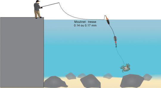 Principe de la pêche au flotteur