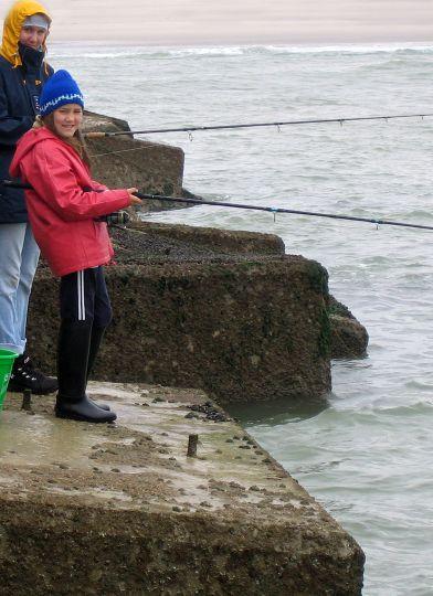Pêche au flotteur sur digue