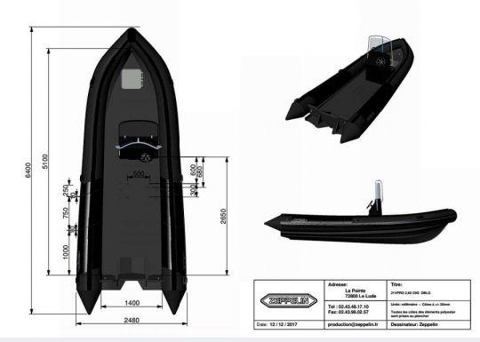 Zeppelin 21 VPRO avec 150 ch Evinrude