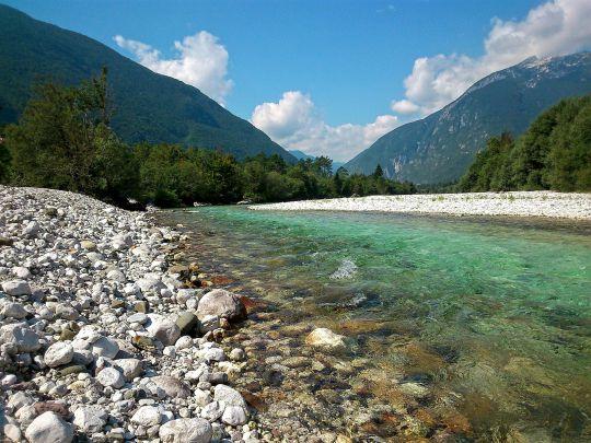 Pêcher la truite en Slovénie
