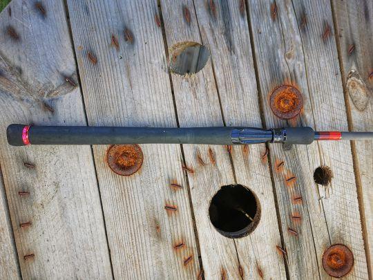 canne à pêche NFC MB 739 IM avant rénovation