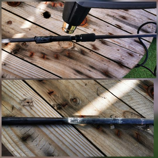 Démontage d'un porte moulinet d'une canne à pêche