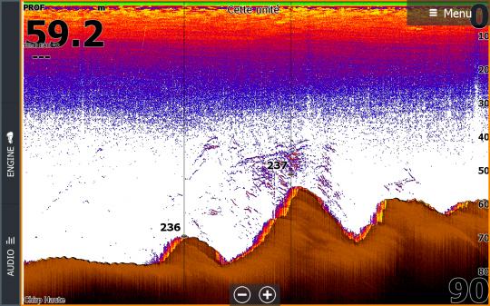 Capture d'écran de lieus actifs au large de l'ile de sein