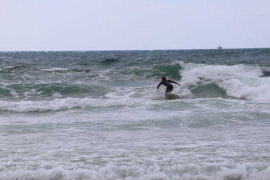Le surf, une autre grande passion d'Etienne.