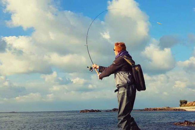 Pêche au bar du bord