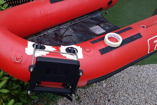 Pose des 4 pads qui vont accueillir le support moteur
