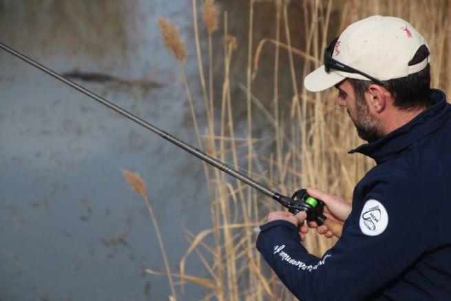 Canne à pêche télescopique à fil intérieur Mosquetari