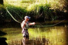 Démontage d'une canne à pêche.