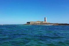 Fort Cigogne, au centre de la chambre de l'archipel des Glénan.