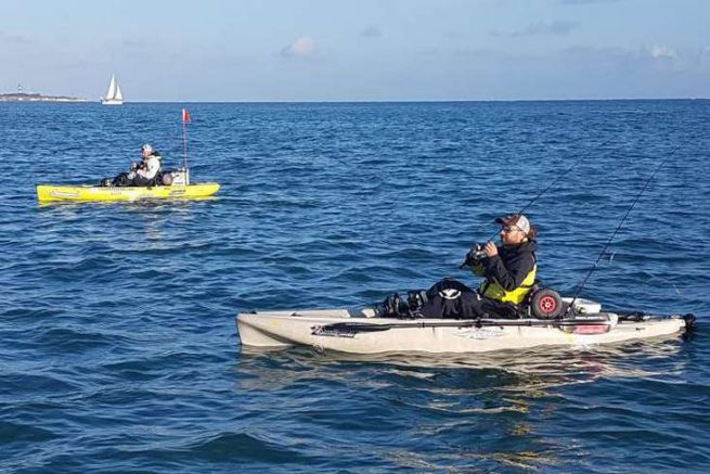 Kayak de pêche en mer