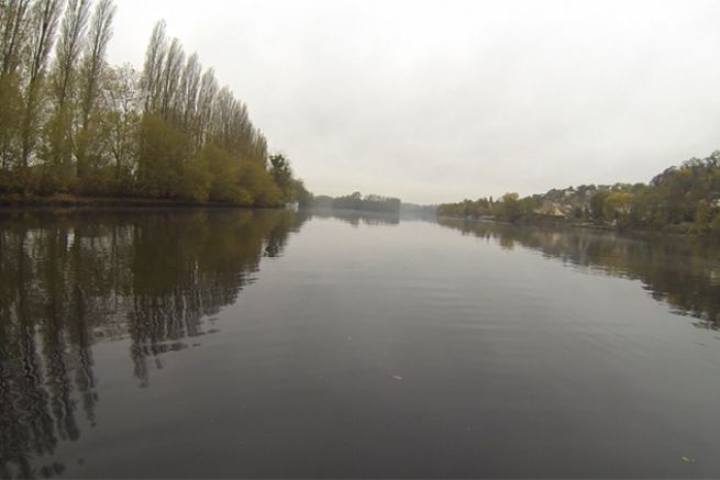 La Seine en aval de la station d'épuration